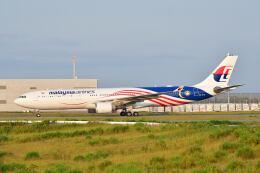 天心さんが、関西国際空港で撮影したマレーシア航空 A330-323Xの航空フォト(飛行機 写真・画像)