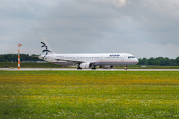 gomaさんが、ミュンヘン・フランツヨーゼフシュトラウス空港で撮影したエーゲ航空 A321-231の航空フォト(飛行機 写真・画像)