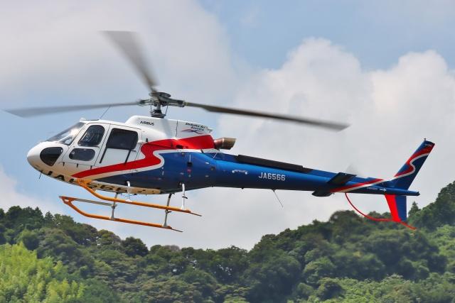 航空フォト:JA6566 四国航空 AS350