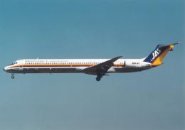 プルシアンブルーさんが、仙台空港で撮影した日本エアシステム MD-81 (DC-9-81)の航空フォト(飛行機 写真・画像)