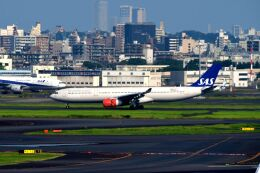まいけるさんが、羽田空港で撮影したスカンジナビア航空 A330-343Xの航空フォト(飛行機 写真・画像)