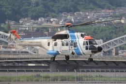 MOR1(新アカウント)さんが、広島へリポートで撮影した中日本航空 AS332L1 Super Pumaの航空フォト(飛行機 写真・画像)