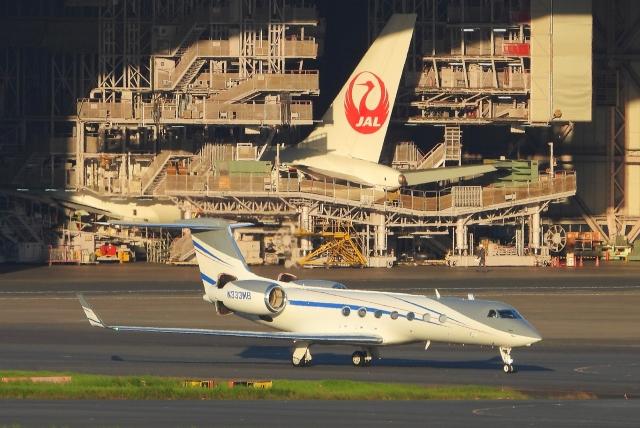 チャレンジャーさんが、羽田空港で撮影したPrivate  owner G-V-SP Gulfstream G550の航空フォト(飛行機 写真・画像)