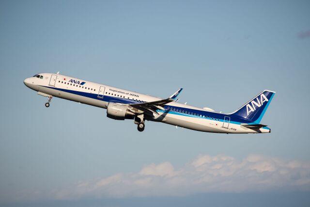 ズイ₍₍ง˘ω˘ว⁾⁾ズイさんが、羽田空港で撮影した全日空 A321-211の航空フォト(飛行機 写真・画像)