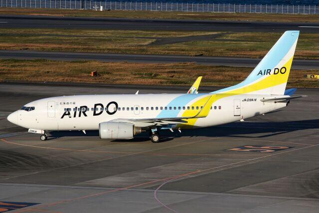 ズイ₍₍ง˘ω˘ว⁾⁾ズイさんが、羽田空港で撮影したAIR DO 737-781の航空フォト(飛行機 写真・画像)