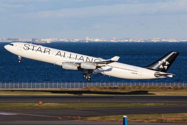 ズイ₍₍ง˘ω˘ว⁾⁾ズイさんが、羽田空港で撮影したルフトハンザドイツ航空 A340-313Xの航空フォト(飛行機 写真・画像)