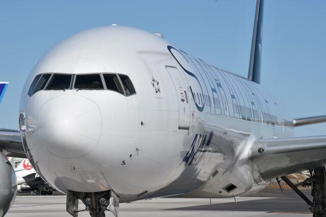 B747‐400さんが、羽田空港で撮影した全日空 777-381/ERの航空フォト(飛行機 写真・画像)