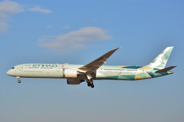 B747‐400さんが、成田国際空港で撮影したエティハド航空 787-10の航空フォト(飛行機 写真・画像)