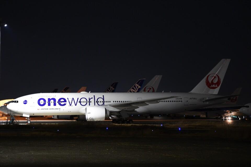 B747‐400さんの日本航空 Boeing 777-200 (JA708J) 航空フォト