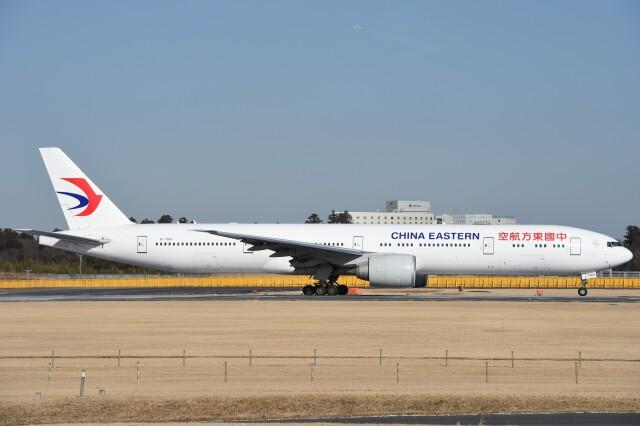 B747‐400さんが、成田国際空港で撮影した中国東方航空 777-39P/ERの航空フォト(飛行機 写真・画像)