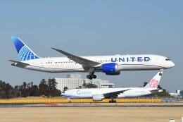 B747‐400さんが、成田国際空港で撮影したユナイテッド航空 787-9の航空フォト(飛行機 写真・画像)