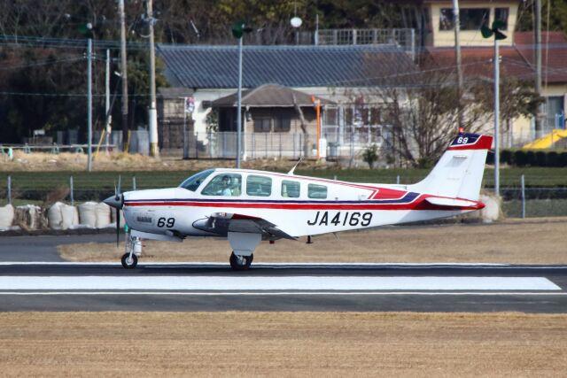 ズイ₍₍ง˘ω˘ว⁾⁾ズイさんが、鹿児島空港で撮影した日本個人所有 A36 Bonanza 36の航空フォト(飛行機 写真・画像)