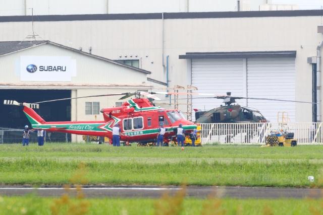 レガシィさんが、宇都宮飛行場で撮影した仙台市消防航空隊 412EPの航空フォト(飛行機 写真・画像)