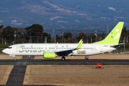 ズイ₍₍ง˘ω˘ว⁾⁾ズイさんが、鹿児島空港で撮影したソラシド エア 737-86Nの航空フォト(飛行機 写真・画像)