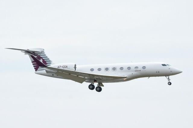 M.Tさんが、関西国際空港で撮影したカタール・エグゼクティブ G650ER (G-VI)の航空フォト(飛行機 写真・画像)