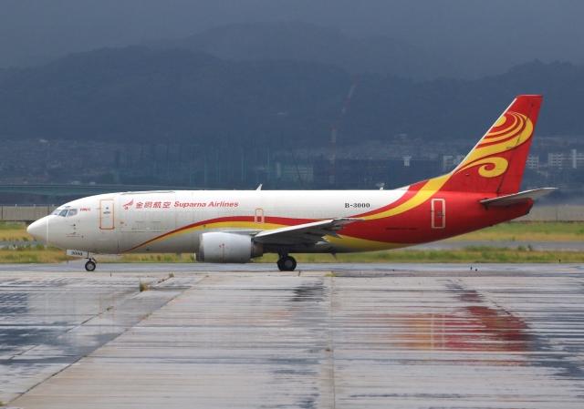 LOTUSさんが、関西国際空港で撮影した金鵬航空 737-36Q(SF)の航空フォト(飛行機 写真・画像)