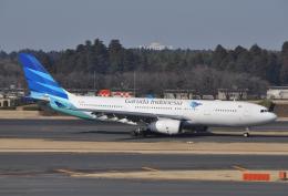 チャーリーマイクさんが、成田国際空港で撮影したガルーダ・インドネシア航空 A330-243の航空フォト(飛行機 写真・画像)