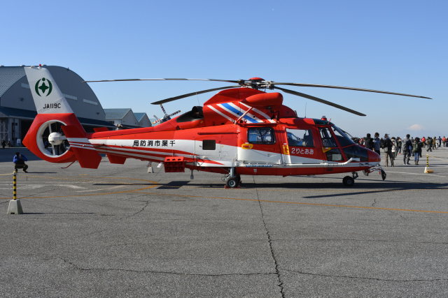 sepia2016さんが、木更津飛行場で撮影した千葉市消防航空隊 AS365N3 Dauphin 2の航空フォト(飛行機 写真・画像)