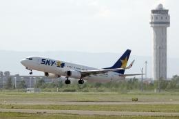 planetさんが、新千歳空港で撮影したスカイマーク 737-8Q8の航空フォト(飛行機 写真・画像)
