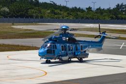makochanさんが、奈多ヘリポートで撮影したエアバス・ヘリコプターズ・ジャパン EC225LP Super Puma Mk2+の航空フォト(飛行機 写真・画像)