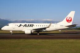 ズイ₍₍ง˘ω˘ว⁾⁾ズイさんが、鹿児島空港で撮影したジェイエア ERJ-170-100 (ERJ-170STD)の航空フォト(飛行機 写真・画像)