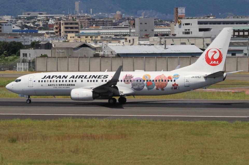 キイロイトリさんの日本航空 Boeing 737-800 (JA329J) 航空フォト