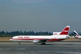 Gambardierさんが、シアトル タコマ国際空港で撮影したトランス・ワールド航空 L-1011-385-1 TriStar 50の航空フォト(飛行機 写真・画像)