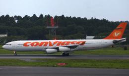 KAZKAZさんが、成田国際空港で撮影したコンビアサ A340-313Xの航空フォト(飛行機 写真・画像)