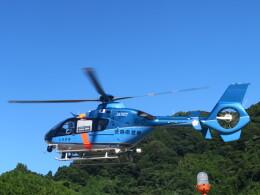 チダ.ニックさんが、静岡ヘリポートで撮影した徳島県警察 EC135T2+の航空フォト(飛行機 写真・画像)