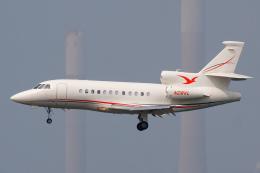 よっしぃさんが、香港国際空港で撮影したアメリカ個人所有 Falcon 900EXの航空フォト(飛行機 写真・画像)