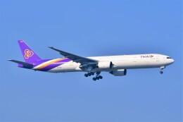 Hiro Satoさんが、スワンナプーム国際空港で撮影したタイ国際航空 777-3D7の航空フォト(飛行機 写真・画像)