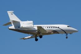 よっしぃさんが、フランクフルト国際空港で撮影したグローバル・ジェット・ルクセンブルク Falcon 900DXの航空フォト(飛行機 写真・画像)