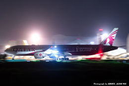 kina309さんが、成田国際空港で撮影したカタール航空 777-3DZ/ERの航空フォト(飛行機 写真・画像)
