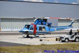 れんしさんが、奈多ヘリポートで撮影した新潟県警察 412EPの航空フォト(飛行機 写真・画像)