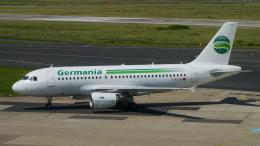 singapore346さんが、デュッセルドルフ国際空港で撮影したゲルマニア A319-112の航空フォト(飛行機 写真・画像)