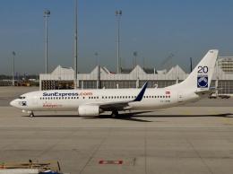 TA27さんが、ミュンヘン・フランツヨーゼフシュトラウス空港で撮影したサンエクスプレス 737-8BKの航空フォト(飛行機 写真・画像)