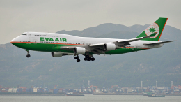 flytaka78さんが、香港国際空港で撮影したエバー航空 747-45Eの航空フォト(飛行機 写真・画像)
