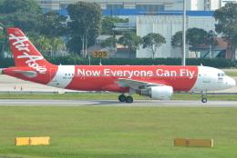 jun☆さんが、シンガポール・チャンギ国際空港で撮影したタイ・エアアジア A320-216の航空フォト(飛行機 写真・画像)