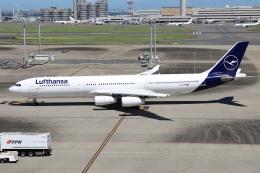 sky-spotterさんが、羽田空港で撮影したルフトハンザドイツ航空 A340-313Xの航空フォト(飛行機 写真・画像)