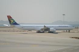 磐城さんが、香港国際空港で撮影した南アフリカ航空 A340-642の航空フォト(飛行機 写真・画像)