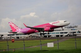 EosR2さんが、鹿児島空港で撮影したピーチ A320-214の航空フォト(飛行機 写真・画像)