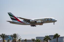 LAX Spotterさんが、ロサンゼルス国際空港で撮影したエミレーツ航空 A380-842の航空フォト(飛行機 写真・画像)