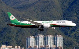 Asamaさんが、香港国際空港で撮影したエバー航空 787-9の航空フォト(飛行機 写真・画像)
