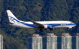 Asamaさんが、香港国際空港で撮影したアトラン・アヴィアトランス・カーゴ・エアラインズ 737-8AS(BCF)の航空フォト(飛行機 写真・画像)