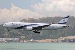 フッ軽の極美さんが、香港国際空港で撮影したエル・アル航空 777-258/ERの航空フォト(飛行機 写真・画像)