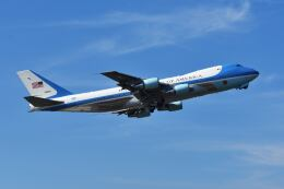 パール大山さんが、横田基地で撮影したアメリカ空軍 VC-25A (747-2G4B)の航空フォト(飛行機 写真・画像)
