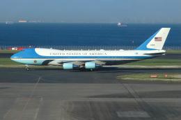 SIさんが、羽田空港で撮影したアメリカ空軍 VC-25A (747-2G4B)の航空フォト(飛行機 写真・画像)
