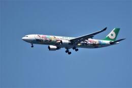Ashさんが、関西国際空港で撮影したエバー航空 A330-302Xの航空フォト(飛行機 写真・画像)
