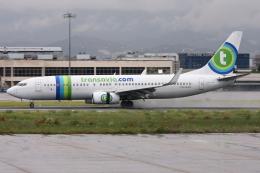 kinsanさんが、マラガ空港で撮影したトランサヴィア 737-8K2の航空フォト(飛行機 写真・画像)