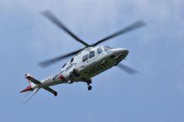赤い水性ペンのシャアさんが、静岡ヘリポートで撮影した静岡エアコミュータ AW109SP GrandNewの航空フォト(飛行機 写真・画像)